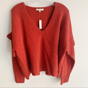 Madewell Ruffle Stitch Play Pullover Sweater